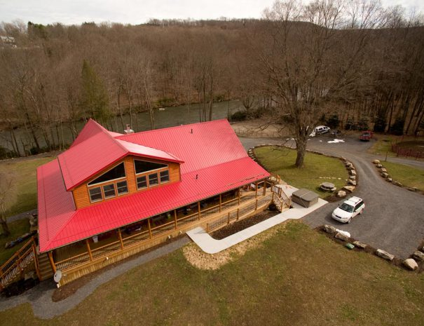 Stillwater Haven - Aerial View of back of house