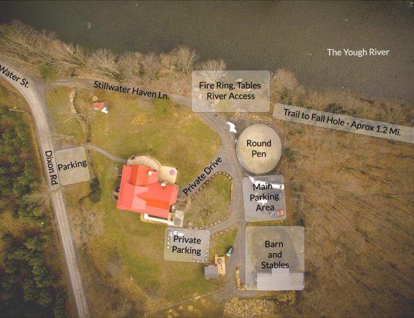 Aerial Overlay of Stillwater Haven and property